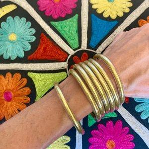 BudhaGirl Inspired bracelets—set of 7 gold